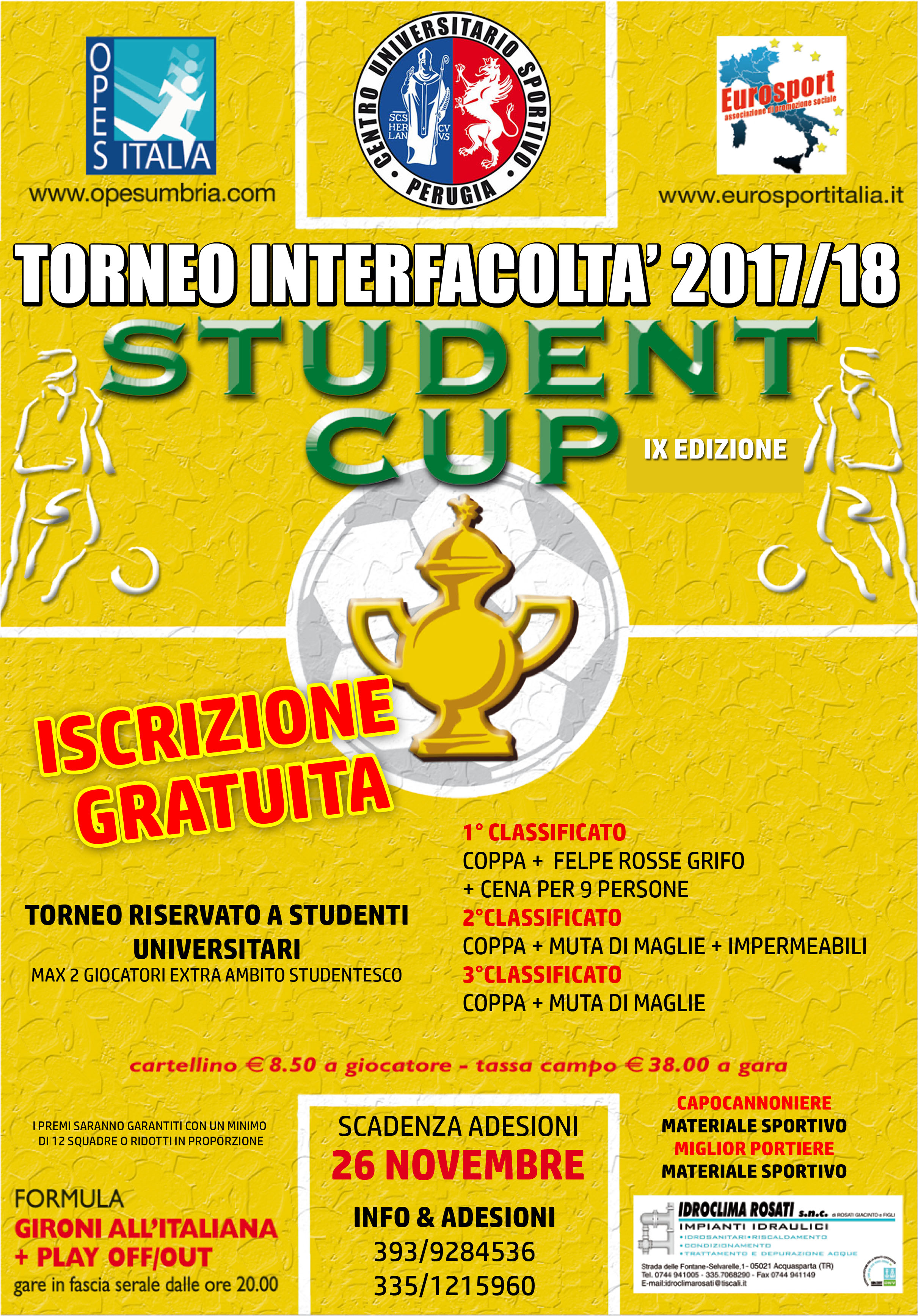 STUDENT CUP INVERNALE 2017-18