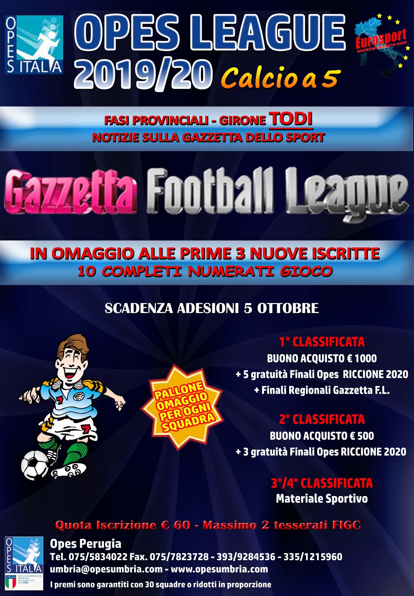 calcio a 5 AMATORI 2019-20 Todi