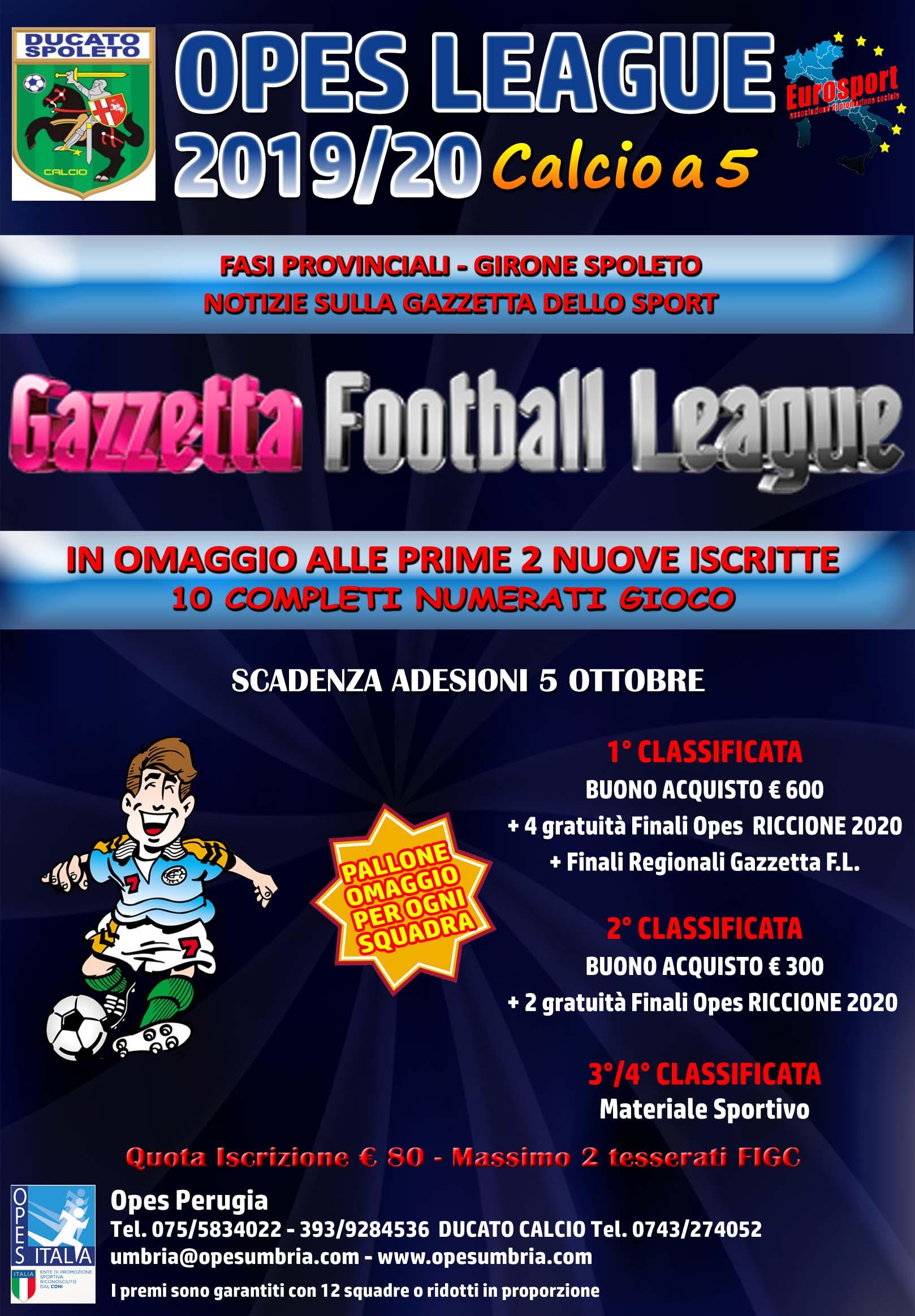 calcio a 5 AMATORI 2019-20 spoleto